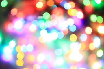 color christmas lights background
