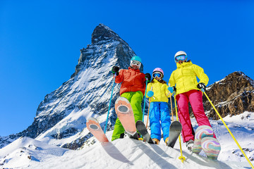 Family winter ski holidays in Zermatt, Switzerland