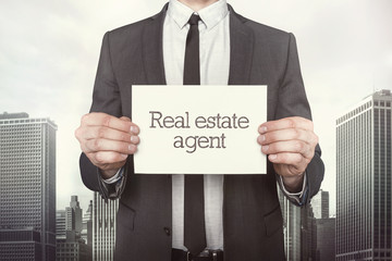 Real estate agent on paper
