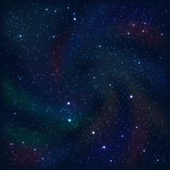 Cosmic abstract background with stars and nebulas. Vector
