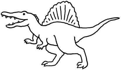 スピノサウルス モノクロ