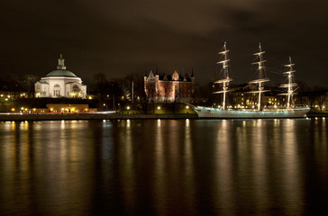 Gamla Stan at night