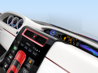 Center multi-information console design for intelligent electric car.
