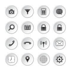 Modern social media buttons set
