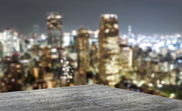 Terrasse mit Blick auf Großstadtdschungel