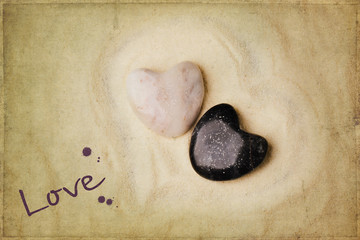 Tow stone heart