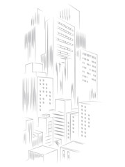 Abstract template city vector background