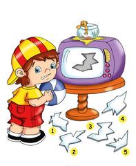 il gioco del pezzo mancante, la televisione