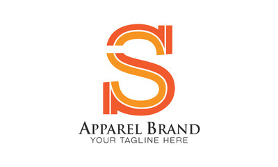 S - Apparel Brand - Logo Letter Vector - exclusive Striped Design
