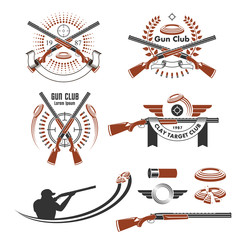 Clay target emblems and design elements