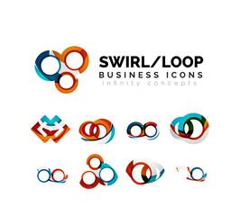 Set of infinity concepts, loop logo designs