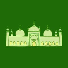 Deurstickers doodles of mosques