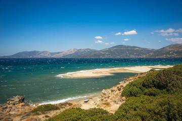 Golden sand beach, Evia, Greece