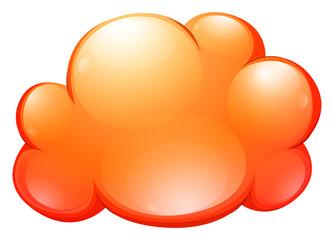Orange cloud on white