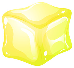Yellow ice cube