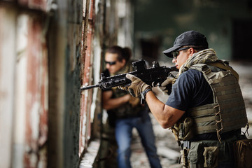 Private Military Contractor during the special operation
