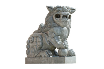 Chinese lion statue.