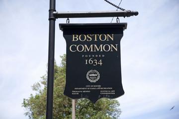 Boston Common park sign, Boston, MA