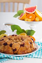 Orange and cranberry monkey bread
