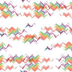 Ikat fabric seamless pattern