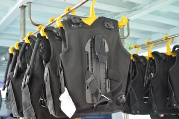 Foto op Canvas Duiken Diving equipment