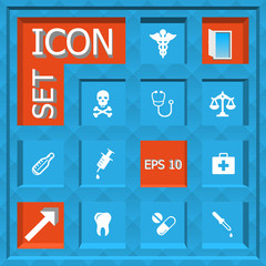 Abstract creative concept vector set of healthcare and medical