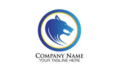 head wolf silhouette sport logo