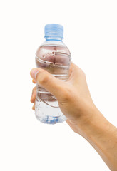 with mineral water bottle