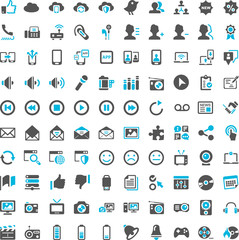 Communication Social Media Iconset blue