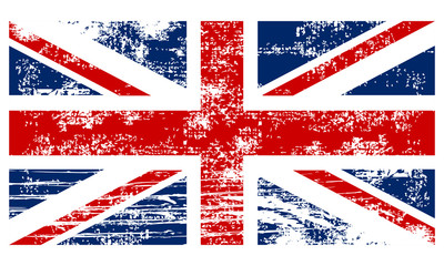Flag of the Great Britain vintage style
