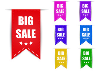 Labels big sale different color