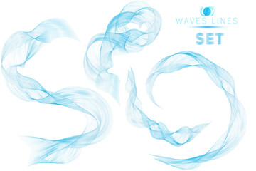 great set blue blend massive waves water abstract background