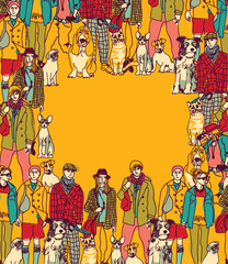 Pets and people frame border color