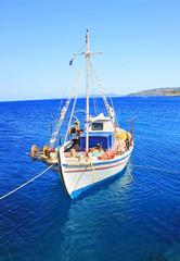 Fishing boats at the coast of Zakynthos, Greece
