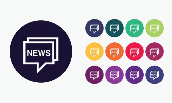 Vector set news icon.