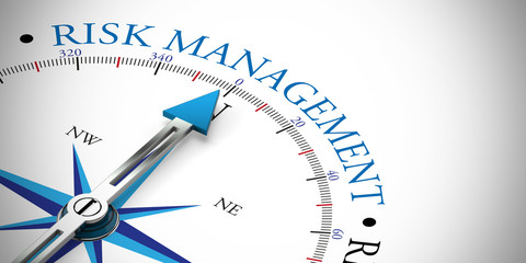 Arrow pointing to risk management concept Wall mural
