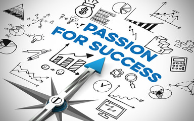 Passion for Success in Business Wall mural