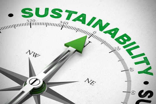Arrow pointing to Sustainability concept