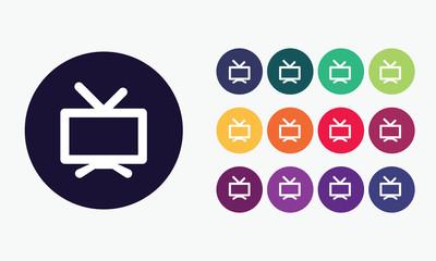Tv icon - Television vector symbol