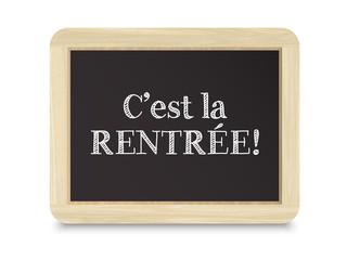 """Icône Vecteur sur Ardoise """"C'EST LA RENTREE!"""""""