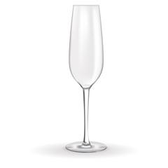 Champagne glass empty.