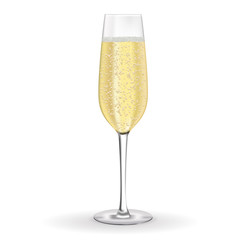 Glass of champagne or sparkling wine
