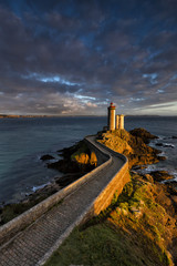 Leuchtturm Petit Minou am Atlantik in der Bretagne, Frankreich