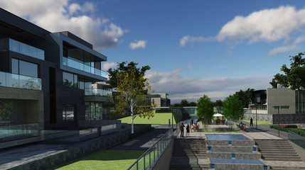 Buildings Photorealistic Render