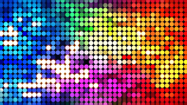 colorful sparkling disco wall
