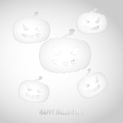Halloween motive in shades of white and gray.