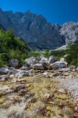 Creek under Triglav north wall