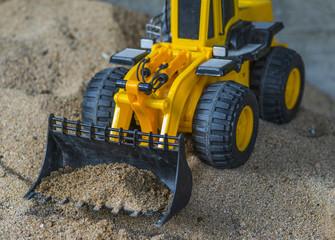 tracteur jaune jouet