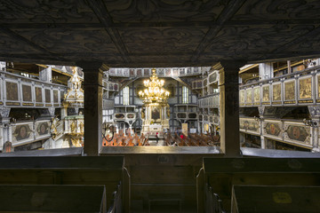 Tuinposter Restaurant Interior of Church of Peace in Jawor, Poland