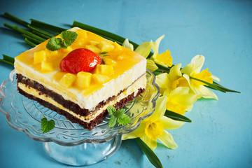Fototapeten Narzisse celebratory cake